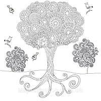 Фото обои - раскраски. 60х60 см Дерево