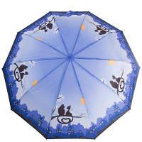 Надежный женский зонт автомат ZEST (ЗЕСТ) Z23966-1, синий