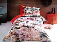 Постельное с рисунком в стиле поп-арт Tivolyo Home Garage полуторное