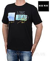 Черная мужская футболка большого размера