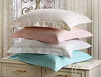 Комплект постельного белья Tivolyo Home жаккард Розовый евро