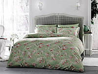 Комплект постельного салатового цвета Tivolyo Home Rose Dantela полуторный