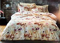 Двуспальное евро постельное Tivolyo Home TANGO с цветочным рисунком