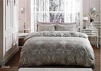 Комплект постельного белья стального цвета Tivolyo Home Arredo