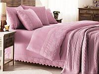 Комплект постельного белья Gelin Home Erguvan Triko Set Лиловый евро 220х240