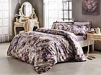 Комплект постельного белья Tivolyo Home сатин-шелк ELLA евро