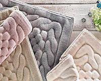Бежевый коврик для ванной Gelin Home Erguvan 70х120