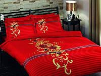 Красное постельное белье Tac Delux SIENA евро