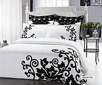 Комплект постельного белья с цветочным узором Arya Dream сатин Akantha евро