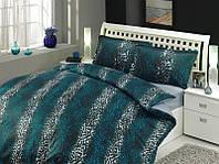 Бирюзовый комплект полуторного постельного белья Hobby сатин-Люкс Imperial