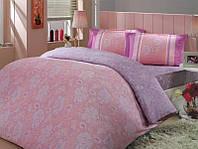 Розовый комплект полуторного белья Hobby Sienna сатин-Люкс