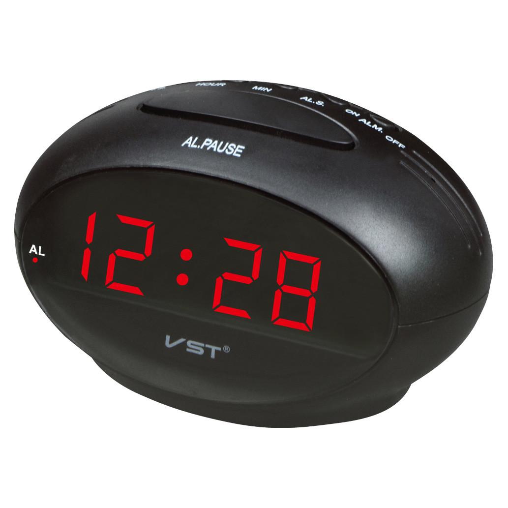 Настольный будильник vst 711-1, красная подсветка цифр, светодиодные, электронные  часы, 8893ecfcdaf