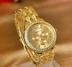 Часы женские Geneva Paidu Swarowski золото и серебро