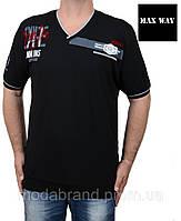 Черная мужская футболка 56-58 размера