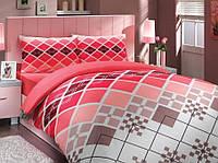 Комплект постельного белья HOBBY ранфорс Destina полуторный красный