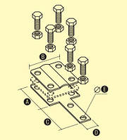 Соединитель оцинкованный контрольный с 4-мя отверстиями