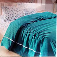 Комплект постельного белья Nazenin Ranforce pike Зеленый евро