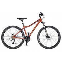 """Велосипед женский AUTHOR Solution ASL 27,5"""", цвет-оранжевый (чёрный) / чёрный, рама 16"""" 2017"""
