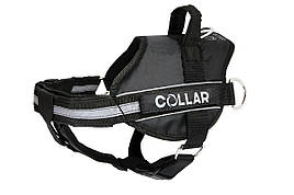 Шлея Police N2 40-60 см DogExtremе для собак зі змінним написом чорна