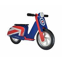 """Беговел 12"""" Kiddimoto Scooter деревянный, сине-красная мишень"""