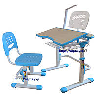 Детский стол, стул регулируемые, настольная лампа L2, подставка, 2 цвета.