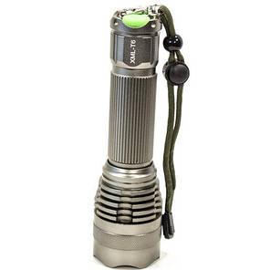 Фонарь ручной светодиодный Cree F8 Серебристый для скалолазов тактический с шипами для самообороны, фото 2