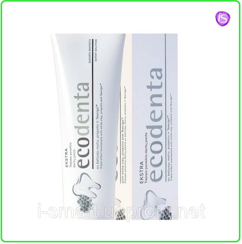ECODENTA Extra - отбеливающая паста Зубная паста с тройным эффектом