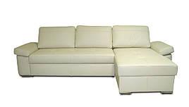 Кожаный диван Philadelfia с оттоманкой
