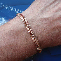 Серебряный позолоченный браслет, 210мм, 11 грамм, плетение Питон, фото 3