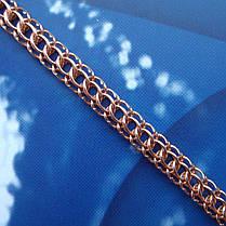 Серебряный позолоченный браслет, 185мм, 7 грамм, плетение Питон, фото 2