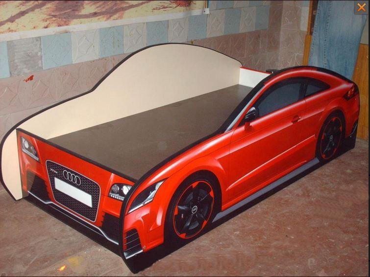 Детская кровать машинка «Ауди»