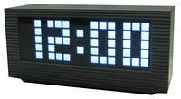 Электронное led-табло, часы-будильник vst 2191-6, белая подсветка, таймер, секундомер, работают от сети 220в