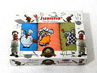 Салфетки махровые Juanna 3 штуки 30x50 5