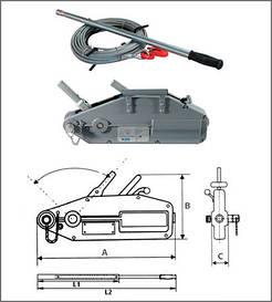 Монтажно-тяговий механізм (МТМ) типу ZNL 0.8 тн