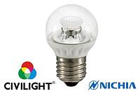 Светодиодная лампа G45 WP25V4 ceramic clear