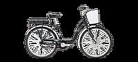 """Велосипед женскийLombardo 17' 26"""" E-Elba Classic 17""""/44см black"""
