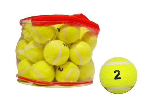 Мяч для большого тенниса, 2й сорт. В сумочке, 24 шт.