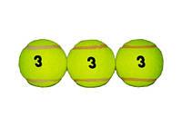 Мяч для большого тенниса Tiger, 3й сорт. В упаковке, 3 шт.