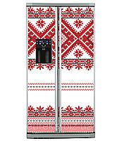 Наклейки виниловые для холодильника Side-by-side Украинский орнамент