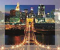 Картина на стекле с МДФ подложкой Ночной Город 50*60 см