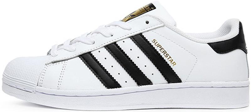 Мужские Кроссовки Adidas Superstar White Black Gold — в Категории ... 0b0384427cea7