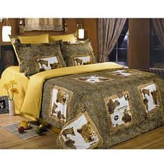 Комплект постельного белья Love You жатый шелк Загадочный мир евро