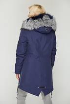 Женская зимняя парка с натуральным мехом чернобурки, фото 3