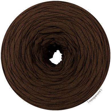 Трикотажная пряжа Темный коричневый шоколад, 85 м