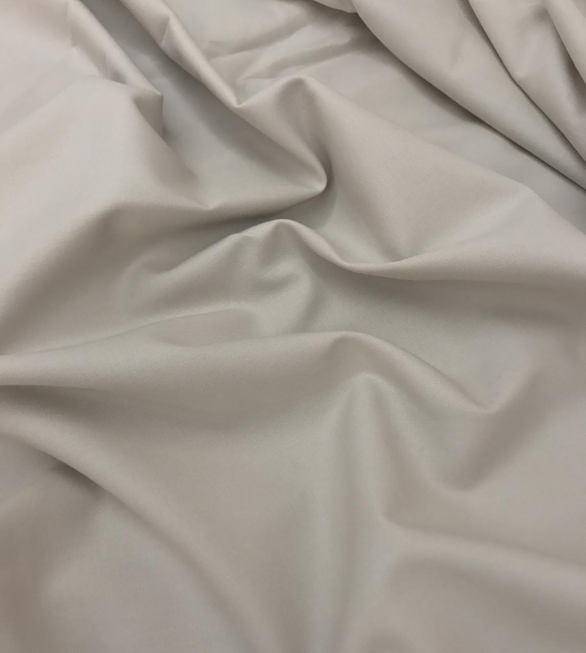 Хлопковая ткань премиум-класса однотонная бежевая №521