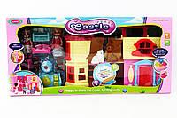 Домик раскладной, с куколками, мебелью, животными, SD181