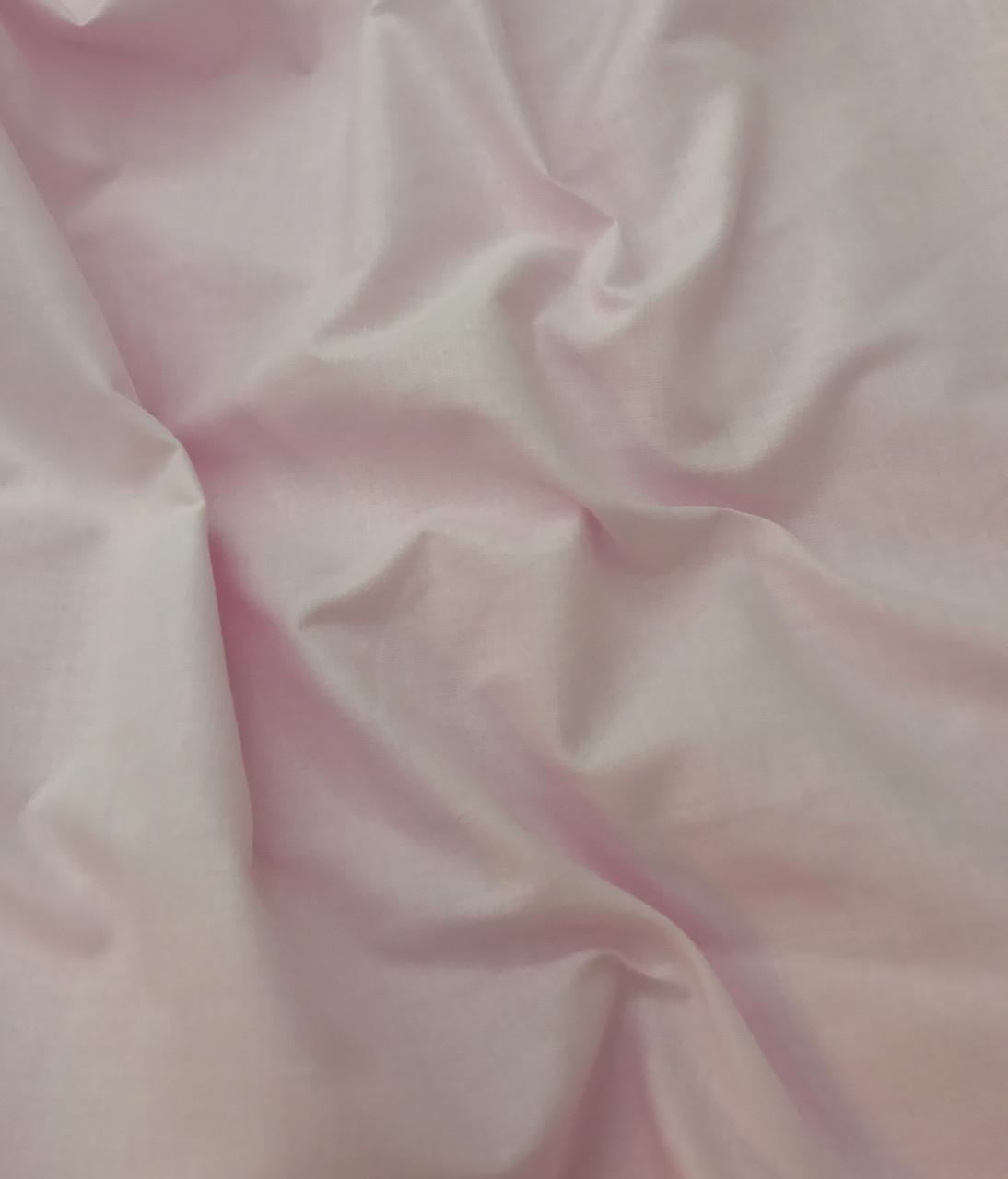 Хлопковая ткань премиум-класса однотонная розовая №519