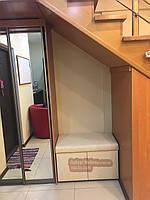Пуф-шкаф с вырезом под колонну 900х400х430мм