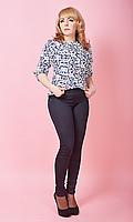 Оригинальные трикотажные леггинсы имитирующие брюки