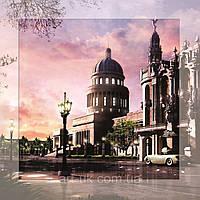 Картина на стекле с МДФ подложкой Город 50*50 см